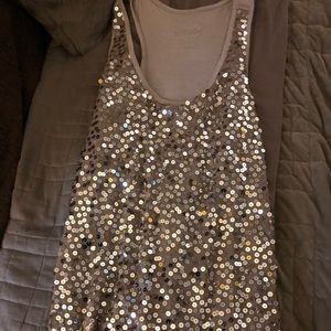 Gold Sequined Tank